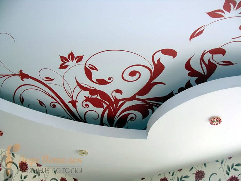 Фото натяжных потолков в спальню